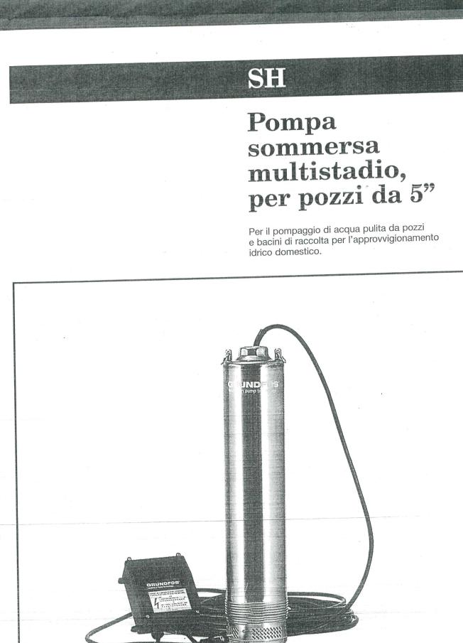 """Pompa sommersa multistadio per pozzi da 5"""" SH3-75"""