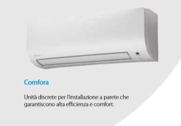 DAIKIN MONOSPLIT FTXP50L RXP50L COMFORA R32 17000 BTU A++ INVERTER